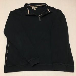 Burberry London logo nova check 1/4 zip sweatshirt